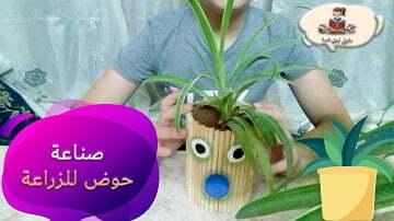 اعادة تدوير الزجاجات الفارغة لصنع حوض زراعة مع محمد